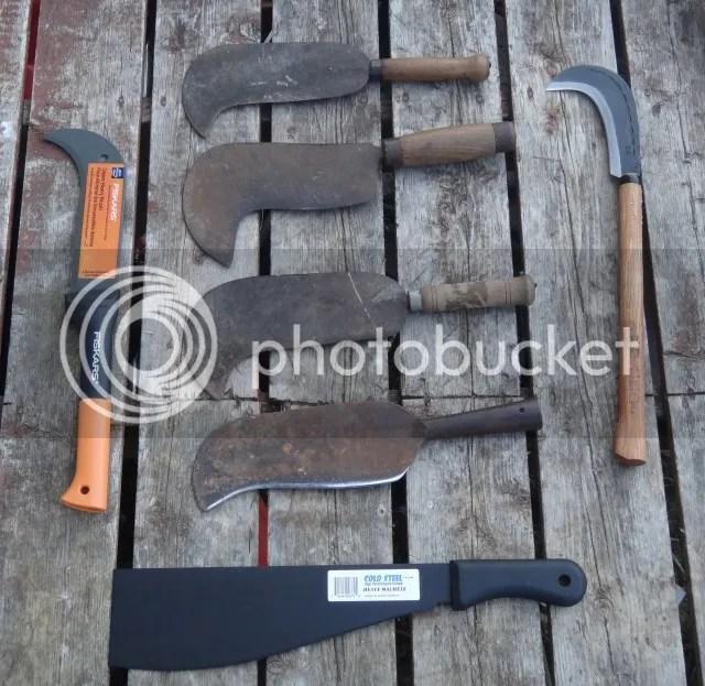 Brush Long Handled Knife