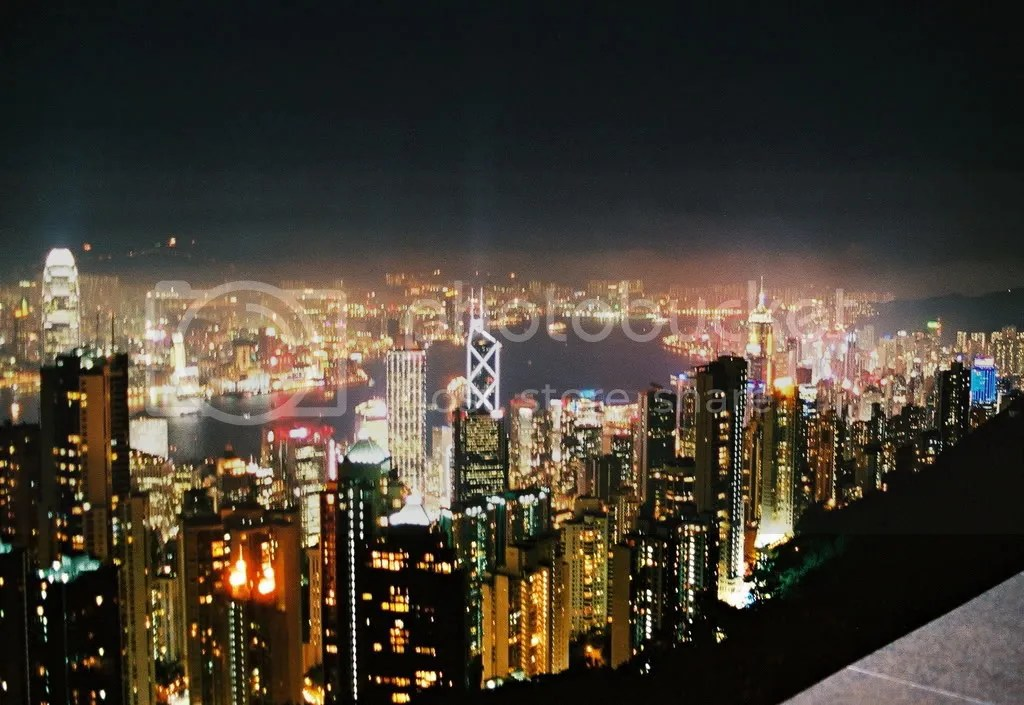 Nighttime in Hong Kong