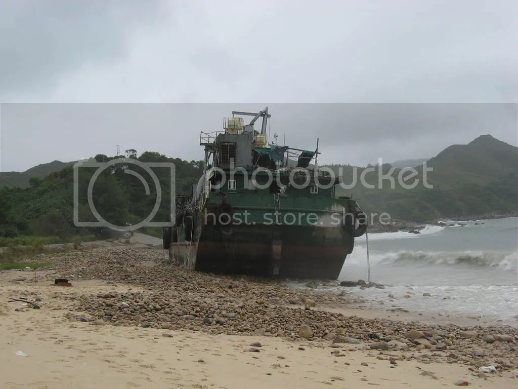 Beached Barge