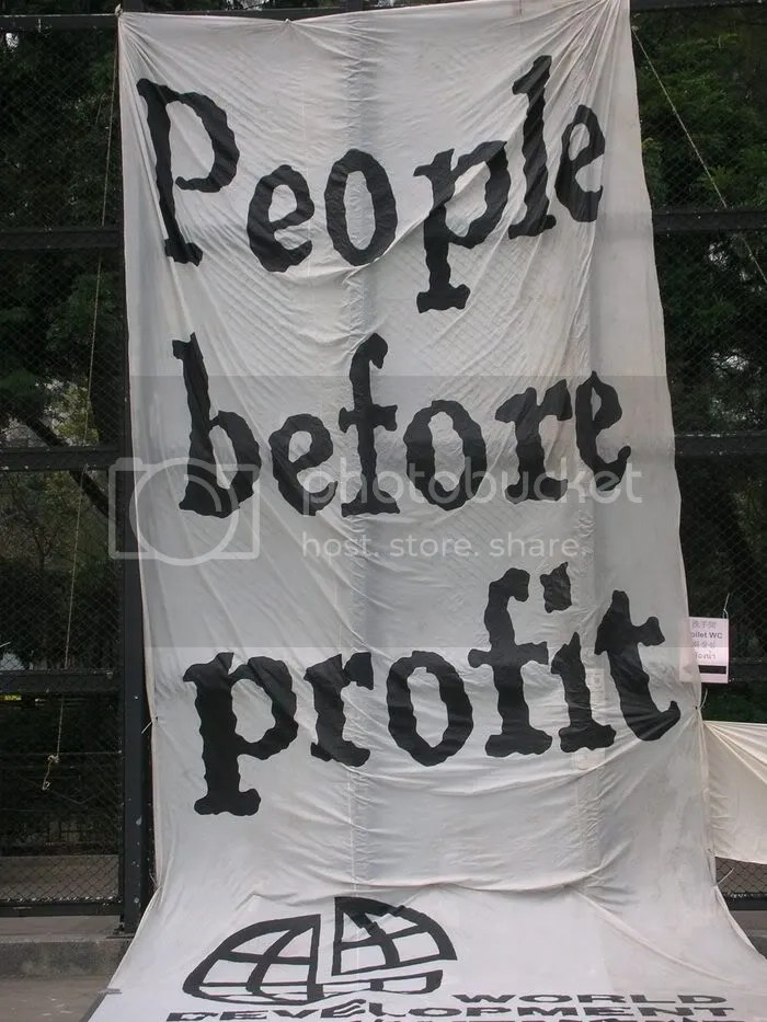 People before profit