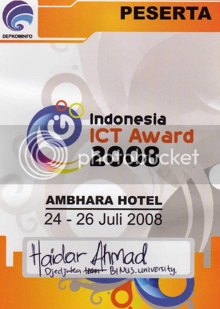 ID Card INAICTA 2008