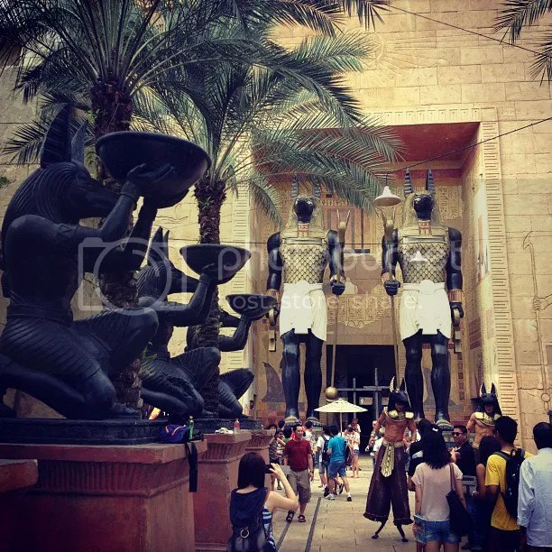 Ancient Egypt in Universal Studios Singapore of Resorts World Sentosa
