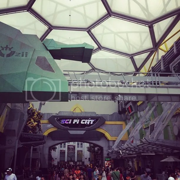 Sci-Fi City in Universal Studios Singapore of Resorts World Sentosa