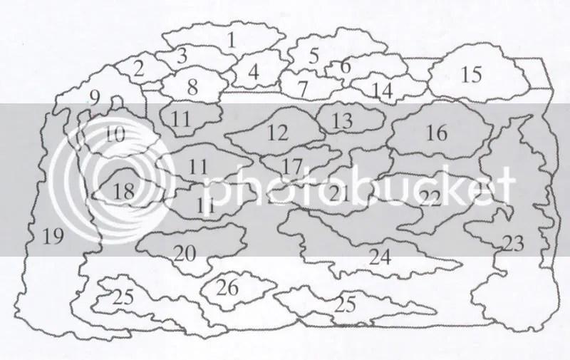 muro a secco schema con numeri
