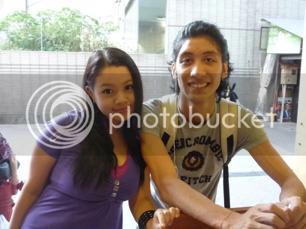 Joshua Pianopiano and Lara Novales at Paisano's Pizzeria Wan chai hongkong