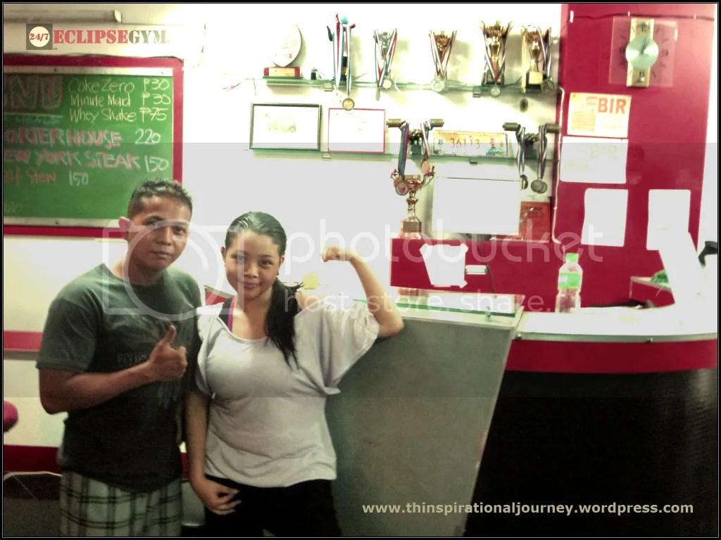 Coach Victor Palo and Lara Novales at Eclipse 24/7 Fitness Center Mabini Branch in Manila