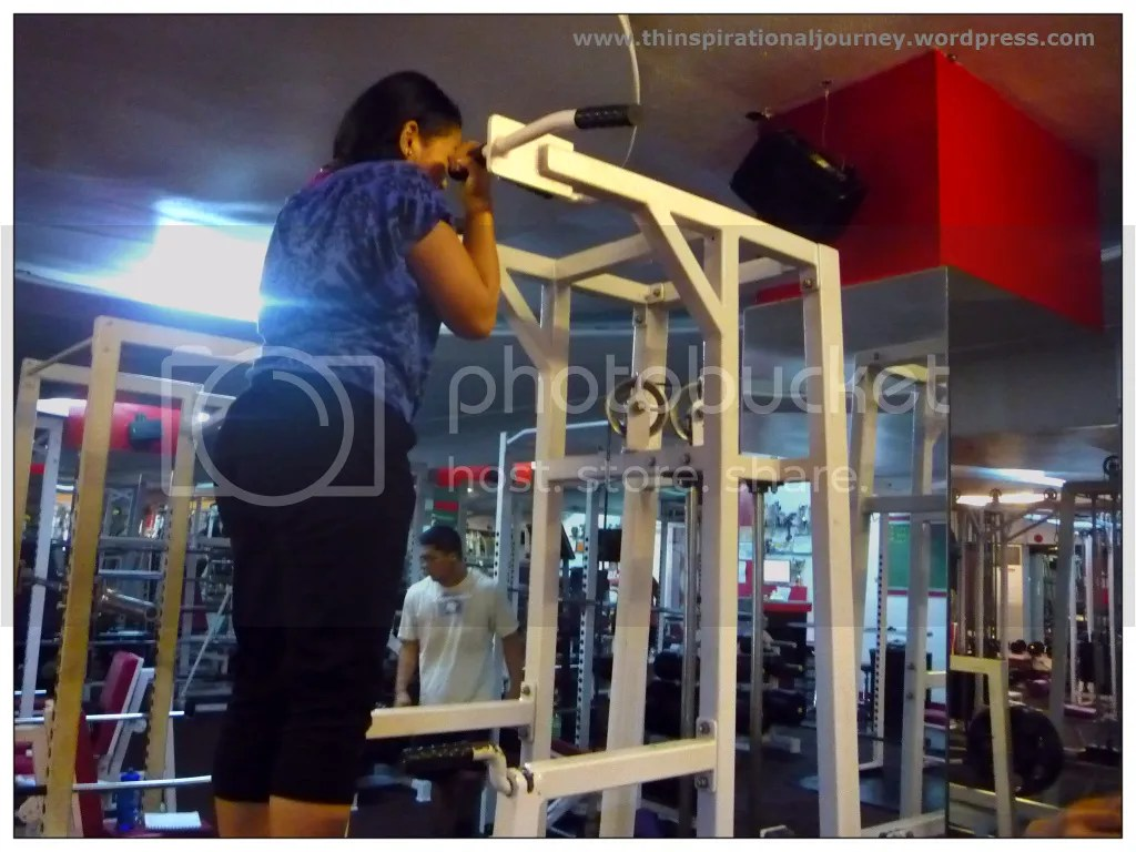 Lara Novales Assisted Pull ups at the Eclipse Gym