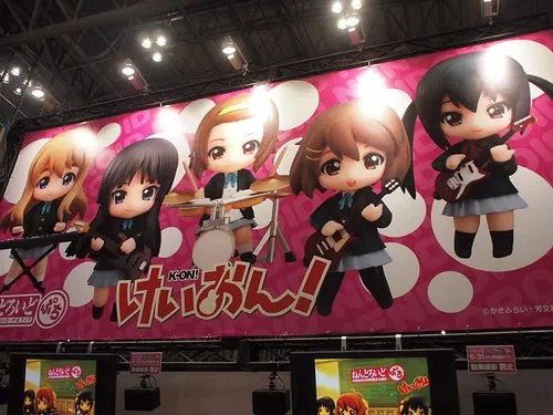 Banner of K-ON! Nendoroids at Chara Hobby 2010
