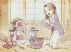 Phoenix Wright 3 - Little Maya with her mother
