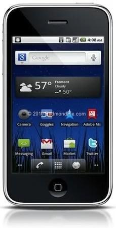 Google Android pada iPhone