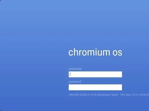 Layar login Chromium OS
