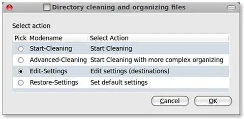 Tampilan aplikasi Files-Organizer yang minimalis