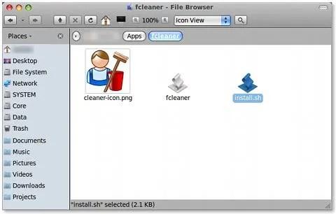 Instalasikan Files-Organizer dengan mengklik ganda install.sh