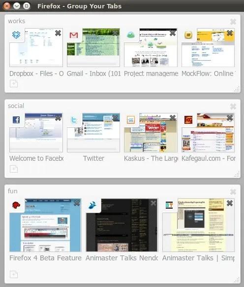Fitur Panorama pada Firefox 4 beta 5