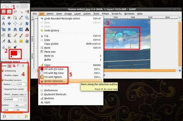 Setelah membuat berkas baru atau membuka berkas gambar