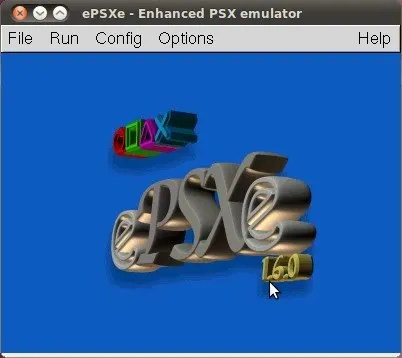 Tampilan ePSXe 1.6.0 native untuk Linux
