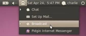 Menu untuk mengakses aplikasi chatting, e-mail, dan jejaring sosial
