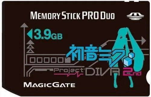 Memory Stick Pro Duo 4 GB versi Hatsune Miku/Project Diva 2nd