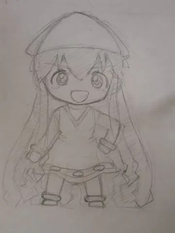 Rough sketch of Nendoroid Ika Musume design
