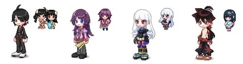 Nendoroid Petit icon behind your La Tale characters
