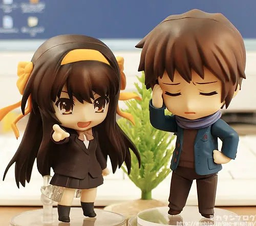 Nendoroid Suzumiya Haruhi and Kyon - both are Disappearance version