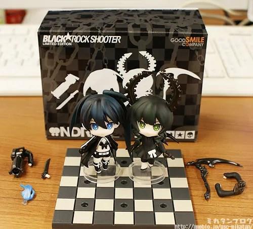 Black Rock Shooter DVD + Bluray Bundle with Nendoroid Petit BRS Set