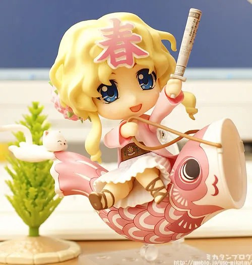Nendoroid Haru-chan riding a fish