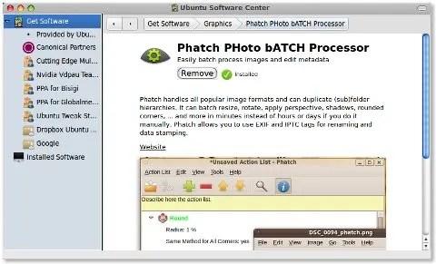 Phatch dalam Ubuntu Software Center