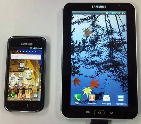 Samsung Galaxy Tab (sebelah kanan)