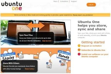 Situs resmi UbuntuOne