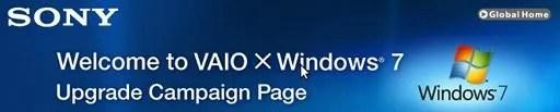Harga spesial Windows 7 untuk pengguna VAIO