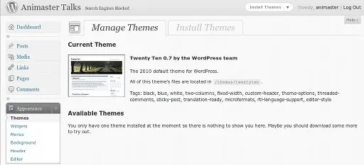 Tema baru pada WordPress 3.0 beta 1