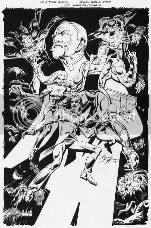 Promo art for Of Bitter Souls, courtesy of Norm Breyfogle