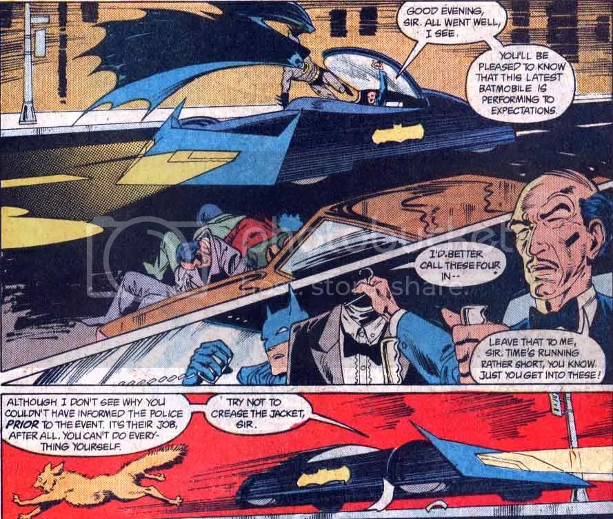 A new design (introduced as such by Alfred). From Detective #591, this design appears through #593