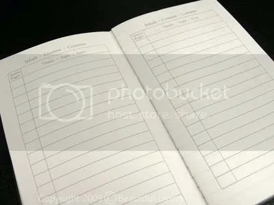 Leuchtturm Table of Contents and numbered pages make this journal easy to organize.