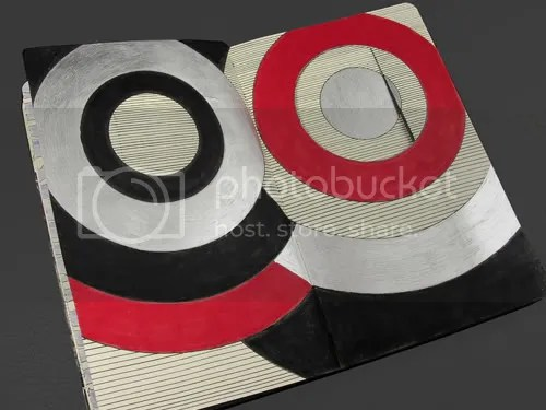 Shapes Were Cut Into the Pages of My Moleskine Sketchbook to Create the Letter O and P.