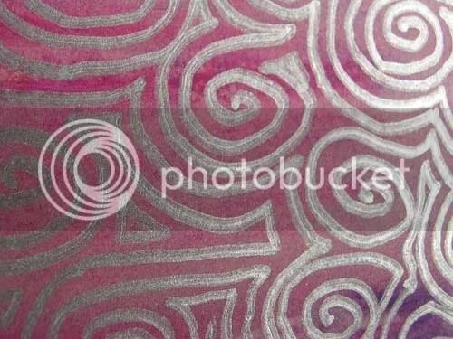 Detail of the Metallic Spiral Background.
