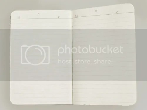 The Inside of the Leuchtturm Mini Address Book Has 1 Letter and 26 Lines Per Page.