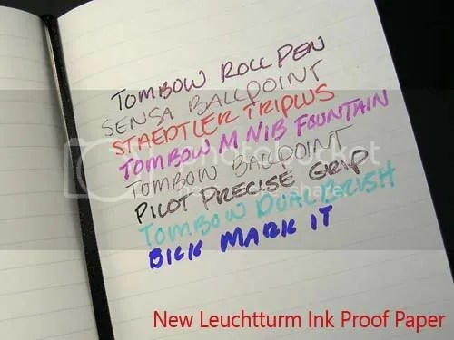 Leuchtturm pen and ink test.