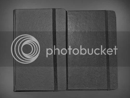 Leuchtturm Journal next to a Moleskine Journal