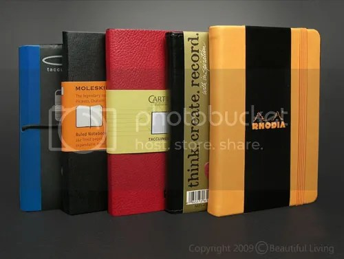 Moleskine, The paper was tested in Ciak, Rhodia, Cartesio and C.R. Gibsons Markings journals.