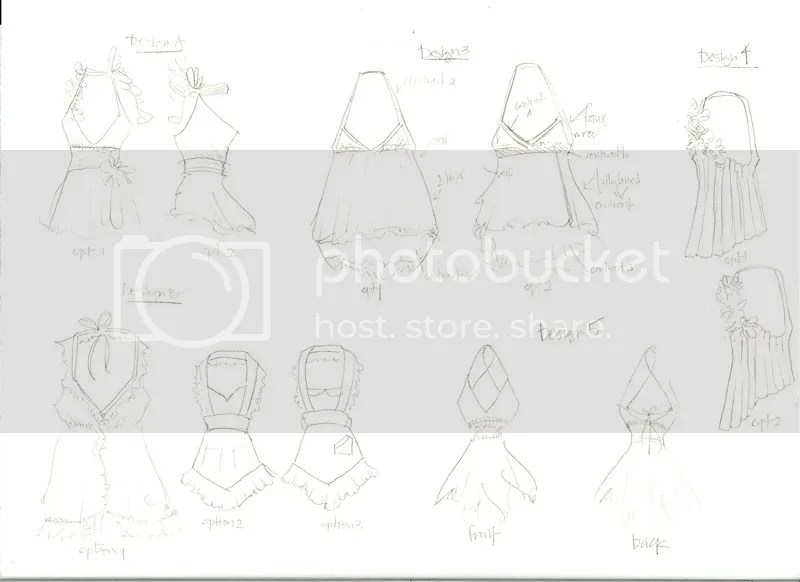 halter sketches