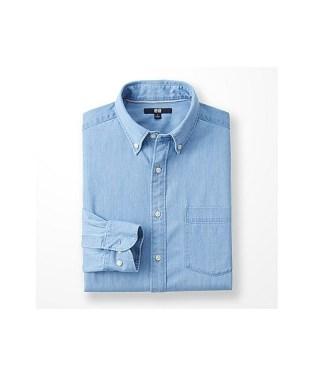 「UNIQLO デニムシャツ(長袖)」の画像検索結果