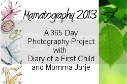 I'm taking part in Mamatography 2012