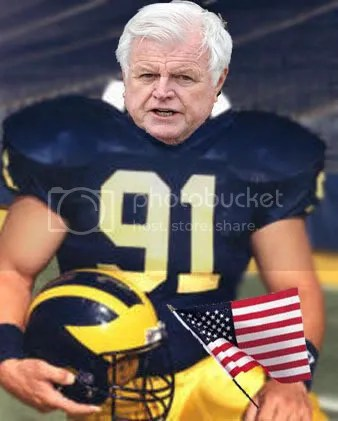 Ted Kennedy as a Michigan Wolverine