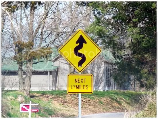Road sign at county line...