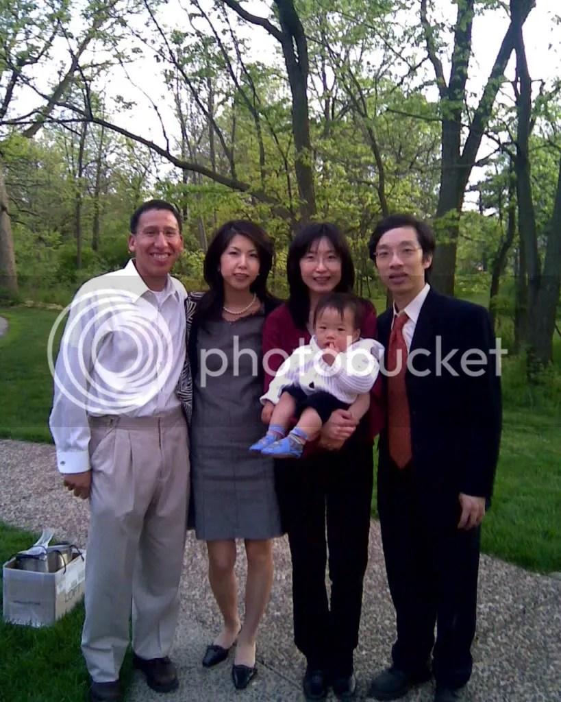(left to right) Steve, Hiroe, Micah, Mum, Dad