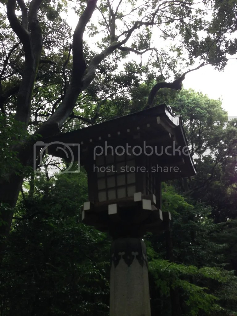 One of the lamp posts in the pathway to the main shrine.