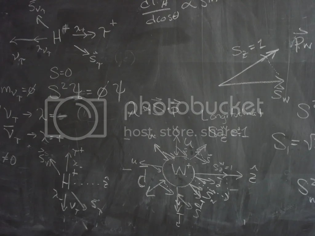 Just another blackboard of equations
