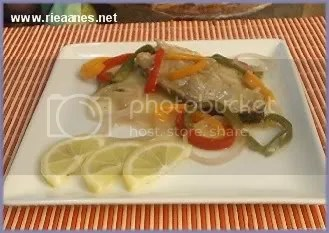 Fish Fillet with bell peppers